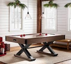 Air Hockey Coffee Table Wooden Black X Base Air Hockey Table