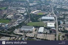 aerial view of sheffield motorpoint arena in don valley sheffield