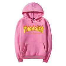 thrasher magazine roses hooded sweatshirt light pink hoody quick