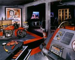 racedeck diamond garage flooring shop flooring a man cave with a vintage indian motorcycle a classic porsche and racedeck garage