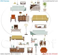 household furniture clipart of retro household furniture 6 royalty free vector