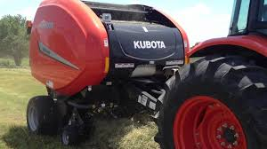 kubota round hay baler with twine youtube