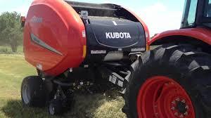 kubota round hay baler with twine youtube