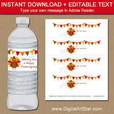 thanksgiving decorations printable thanksgiving water bottle