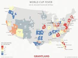 Baltimore Usa Map by The United States Of Soccer Where Did Americans Watch The Usmnt