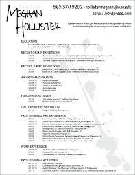 resume for exle performing arts resume curator resume exles artist resume