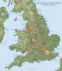 map uk villages map of