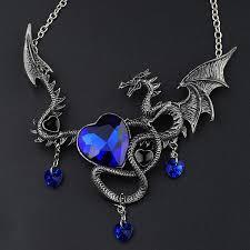 big crystal necklace images Crazy feng vintage designer maxi heart pendant necklace women punk jpg