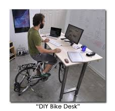 Under The Desk Bicycle Desks Diy Bike Desk Geek Cool Pinterest Desks