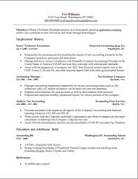Entry Level Accounting Job Resume by Resume Examples For Accounting