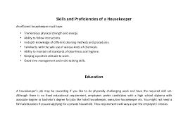Resume Examples For Housekeeping by Housekeeper Resume Sample