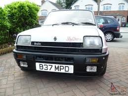 1985 renault alliance 1985 renault 5gd turbo silver gordini turbo le car 2 turbo