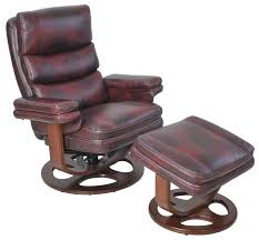 Recliner Ottoman Barcalounger Ii Leather Manual Swivel Recliner With Ottoman