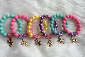 party favor bracelets unicorn party favor bracelet unicorn charm bracelet