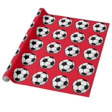 soccer wrapping paper soccer christmas wrapping paper zazzle