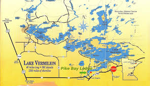 Boundary Waters Map Lake Vermilion Resort Pike Bay Lodge Lake Vermilion Tower Mn