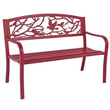 amazon com best choice products steel patio garden park bench