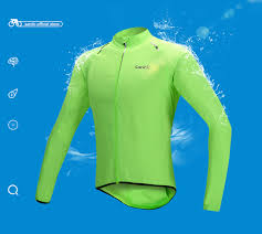 fluorescent cycling jacket men santic raincoat windproof sun protection fluorescent green long