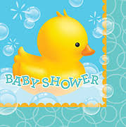rubber duck baby shower rubber ducky baby shower lunch napkins