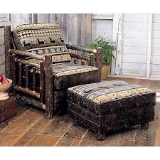 Cowhide Chairs And Ottomans Rustic Chairs U0026 Old Hickory Ottomans