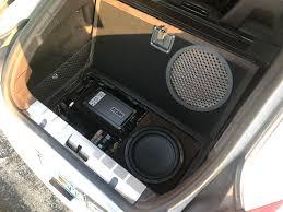 porsche panamera trunk 2010 2015 porsche panamera subwoofer box audiodesigns cg store