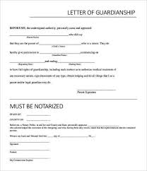 example temporary notarized letter for guardianship template