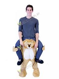 lion costume piggyback lion carry me ride on lion mascot costume