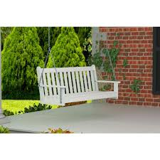 polywood vineyard 60 in white patio swing gns60wh the home depot
