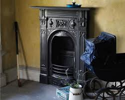 victorian small cast iron combination fireplaces carron