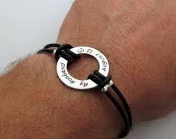mens personalized bracelet custom mens bracelet etsy