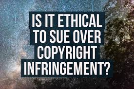 is it ethical to sue over copyright infringement diy photography