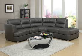 Leather Livingroom Furniture Furniture Gorgeous Dark Grey Leather Sectional For Cozy Living