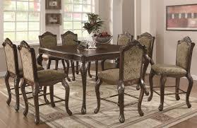 coaster andrea 103118 103119 brown wood pub table set in los