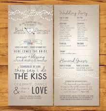 how to do a wedding program wedding ceremony programs wedding ideas photos gallery