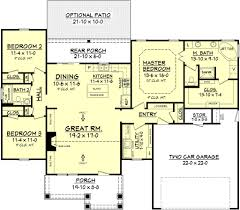 traditional style house plan 3 beds 2 baths 1675 sq ft plan 430