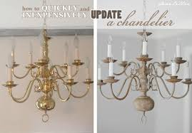 Painted Chandelier Dear Lillie A Chandelier With Chalk Paint