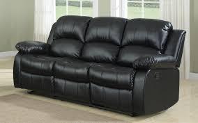 Reclining Sofas Cheap Bob Classic Bonded Leather Recliner Sofa Sofamania