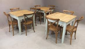 cafe table and chairs bespoke rustic pine tables cafe peppermill interiors