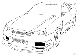paul walkers nissan skyline drawing drawn car nissan pencil and in color drawn car nissan