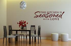 this kitchen is seasoned with love u0027 kitchen dining room wall