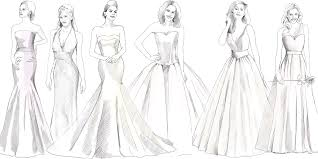 different wedding dress shapes best lizas wedding dress shapes fabrics for julie