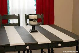 black and white kitchen table get inspired kitchen table makeovers how to nest for less