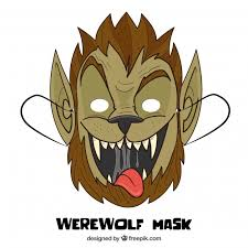 Werewolf Mask Hand Drawn Funny Werewolf Mask Vector Free Download