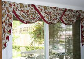 lovely floral scarf valance as patio door window treatments with
