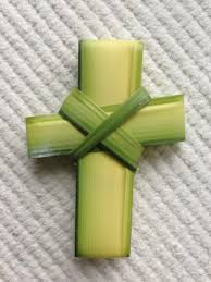 palm sunday crosses from palm branches to the cross