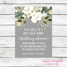 rustic bridal shower invitations christmas bridal shower invitation winter bridal shower