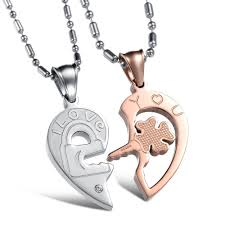 couple heart pendant necklace images Half heart necklace for couples awwake me jpg