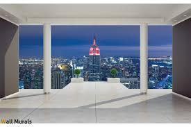 mural room view with new york 3d effect
