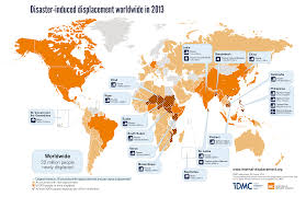 Global Map Of The World by Idmc Global Estimates 2014 People Displaced By Disasters