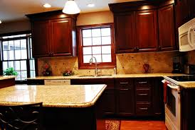 Granite With Cherry Cabinets In Kitchens Granite Countertop Island With Seating Area Cultivate Com